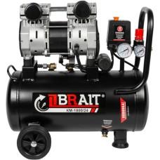 Компрессор воздушный безмасляный BRAIT КМ-1800/24 (24 л / 1.8 кВт / 250 л/м)