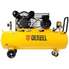 Компрессор воздушный DENZEL BCV2300/100 ременный (100 л / 2300 Вт / 440 л/м)