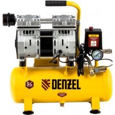 Компрессор DENZEL DLS650/10 безмасляный (10 л / 650 Вт / 120 л/м)