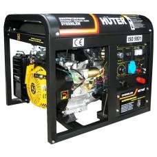 Электрогенератор Huter DY6500LXW c электростартером и функцией сварки (5.0 кВт / 5.5 кВт)