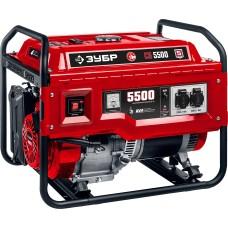Электрогенератор бензиновый Зубр СБА-5500 с электростартером и коннектором автоматики (5.0 кВт / 5.5 кВт)
