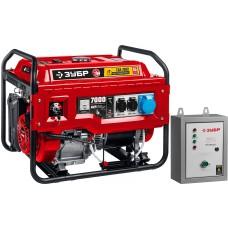 Электрогенератор бензиновый Зубр СБА-7000 с электростартером и коннектором автоматики (6.5 кВт / 7.0 кВт)
