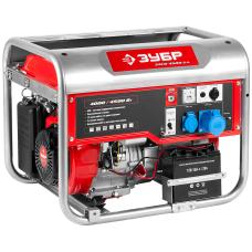 Электрогенератор бензиновый Зубр ЗЭСБ-4500-ЭА с электростартером и коннектором автоматики (4.0 кВт / 4.5 кВт)